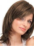 Capless Human Hair Seductive Straight Wig
