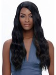 Long Wavy African American Wig Without Bangs