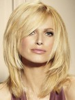 Lace Front Most Popular Layeblonde Medium Red Human Hair Wig