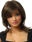 Lace Straight Synthetic Front With Mono Wig For Woman