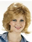 Capless Short Wavy Polished Synthetic Wig