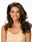 Fashion Long Human Hair Brown Wavy Lace Front Wig