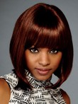 Silky Synthetic Straight Lace Front African American Wig