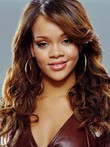 New Rihanna Synthetic Celebrity Wavy Celebrity Wig