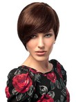 Short Wonderful Pixie Human Hair Capless Wig