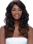 Long Lace Front Wavy Human Hair African American Wig