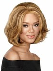 Mid-synthetic Length Bob Style African American Wig
