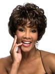 Wavy Short Synthetic Graceful African American Wig