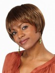 Straight Short Natural Lace Front African American Wig