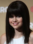 Straight Selena Gomez's Celebrity Wig With Full Bangs