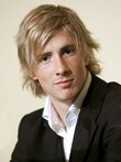Short Blonde Remy Hair Wavy Mens Wig