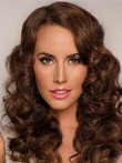 Capless Fashionable Wavy Remy Human Hair Wig
