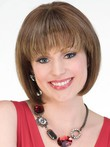 Lovely Straight Synthetic Length Medium Wig