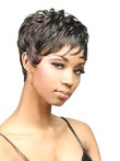 Sophisticated Short Curly Capless African American Wig