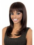 Capless Human Hair Long African American Wig