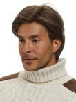 Human Hair Short Full Lace Mens Wig