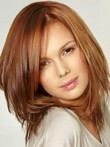 Straight Mid-lace Front New Style Length 100% Remy Hair Wig