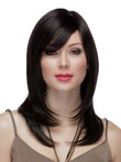 Full Lace Side-swept Bangs Prodigious Human Hair Wig