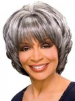 Wavy Synthetic Stylish Gray Wig