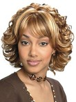 Capless Sophisticated Synthetic Stylish African American Wig