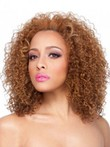 Layered Long Synthetic Curly African American Wig