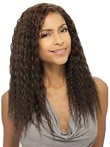 Glossy Smart Curly Long Human Real African American Wig