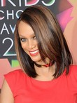 Tyra Banks Human Hair Medium Elegant Straight Lace Front Wig