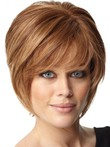 Layers Soft Human Hair Short Sweet Capless Wig