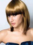 Synthetic Straight Polished Capless Wig