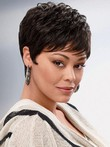 Carefree Synthetic Chic Wavy Short African American Wig