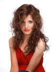 "Full Lace 22"" Wavy Beautiful Human Hair Wig"