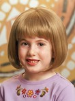 Short Nice Bob With Full Bangs Girl's Wig