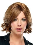 Most Popular Wavy Soft Brown Women Human Hair Wig