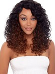 Lace Front Curly Human Hair Long African American Wig