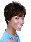 Synthetic Wavy Short African American Wig