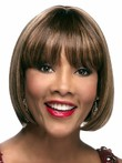 Lace Front Straight Glamorous African American Wig