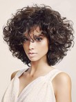 Length Wavy Short Pretty Human Hair Capless Wig