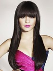 Straight Extra Capless Long Elegante Human Hair Wig