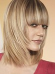 Capless Remy Human Hair Glamorous Straight Wig
