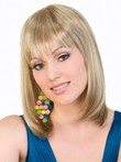 Medium Lace Front Natural Length Synthetic Wig