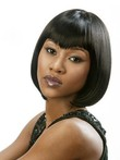 Graceful Human Hair Straight Short African American Wig