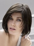 Length Medium Straight Gloss Wonderful Human Hair Wig