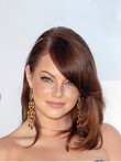 Charming Emma Stone Lace Front Straight Human Hair Celebrity Wig