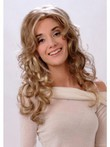 Classic Long Wavy Blonde Monofilament Wig