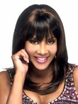 Attractive Straight African American Wig