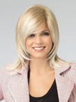 Length Affordable Medium Straight Capless Wig