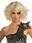 Lady Gaga Lace Front Wavy Medium Celebrity Wig For Woman