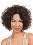 Curly Medium Luscious Lace Front Length African American Wig