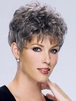 Wavy Synthetic Short Capless Gray Wig
