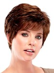 Red Looking Layegood Pixie Synthetic Wig